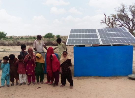 Solar-powered water system in Tharparkar